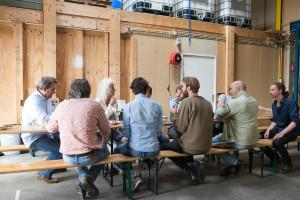 Discussion afterwards featuring producers, location managers and entrepreneurs - fotografie: Dorien Grötzinger